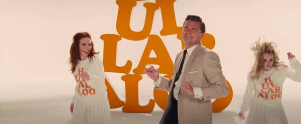 """Rick Dalton dancing in a video with dancers behind him in """"Once Upon a Time... in Hollywood"""""""