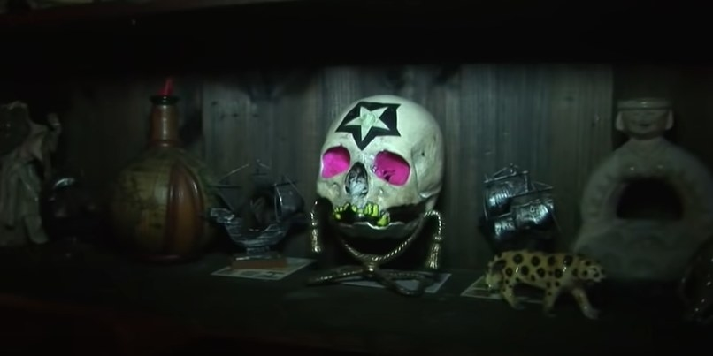 Skull with star symbol on forehead