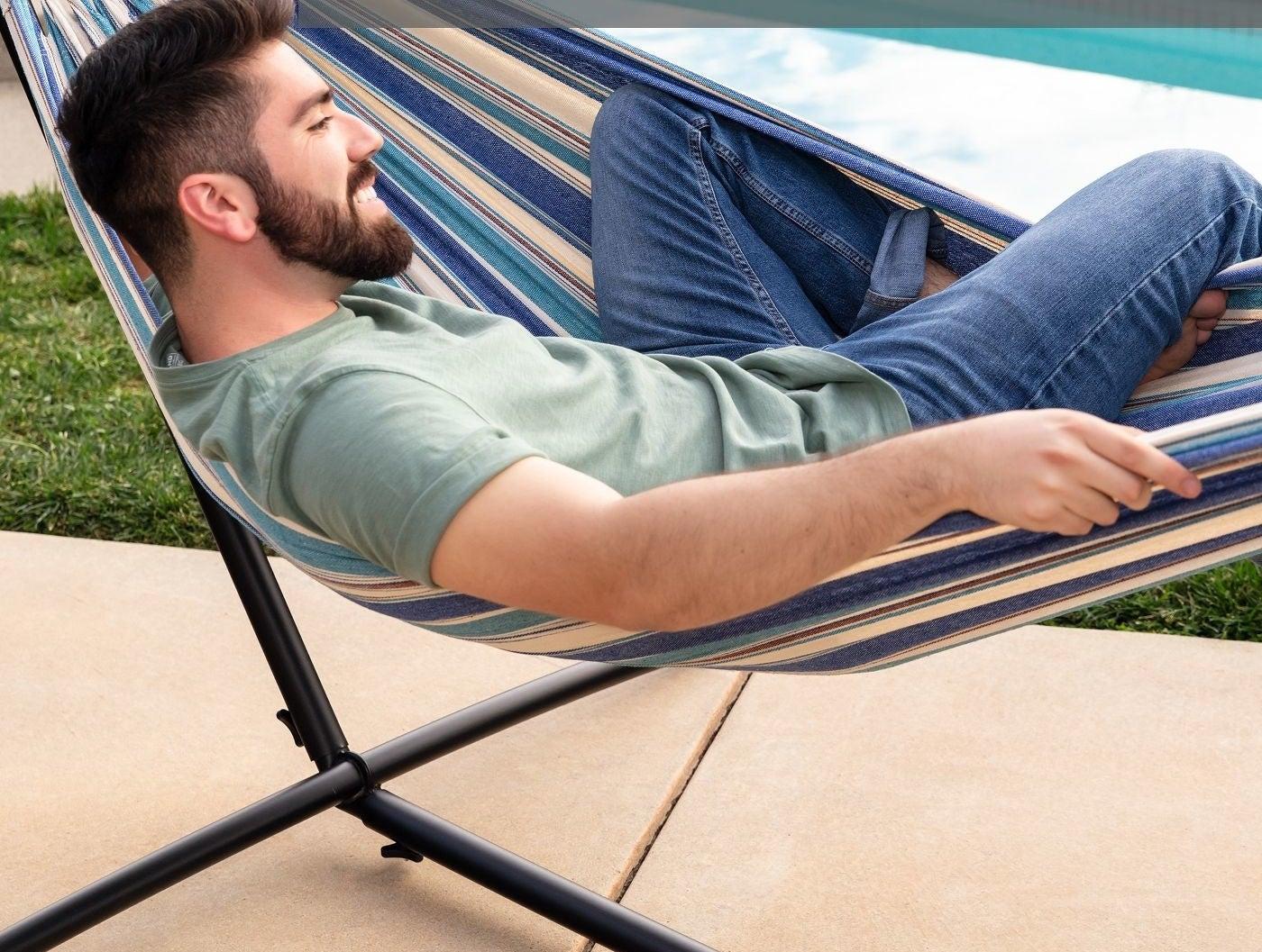 The ocean cotton double hammock