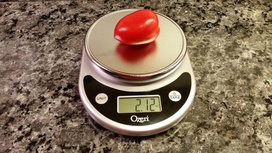 the scale with a pepper on it