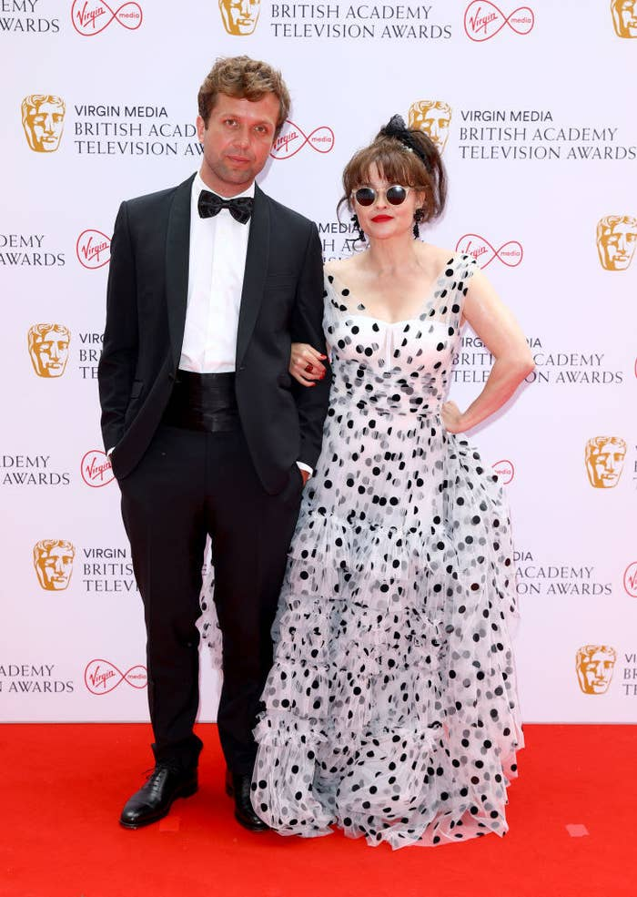 Rye Holmboe and Helena Bonham-Carter attend the Virgin Media British Academy Television Awards 2021