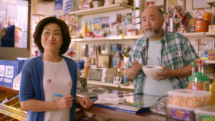 Jean Yoon and Paul Sun-Hyung Lee from Kim's Convenience