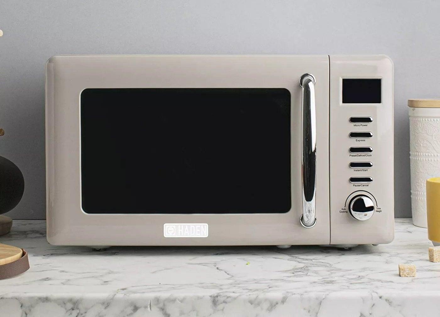 The beige, Haden microwave