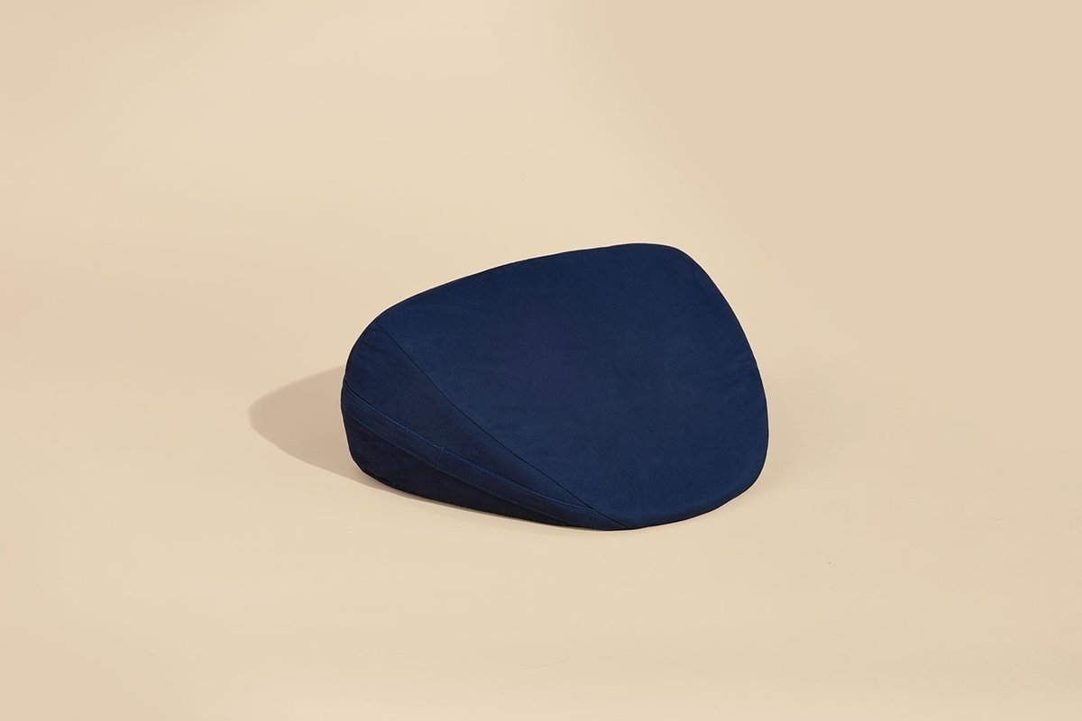 Blue angled pillow
