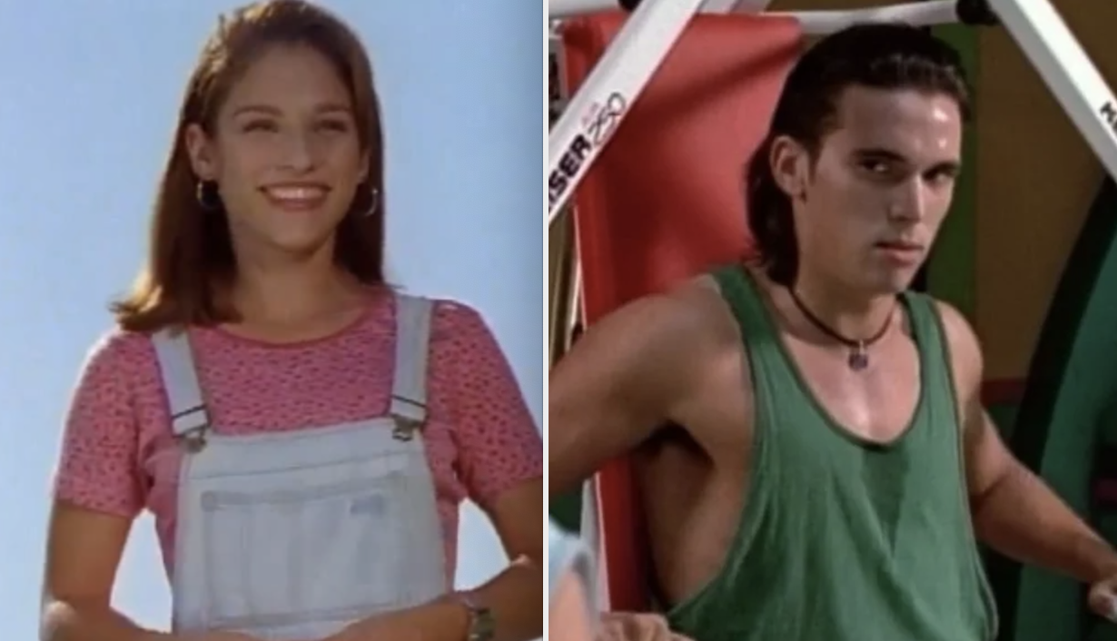 """Kimberly and Tommy in the original """"Mighty Morphin' Power Rangers"""""""