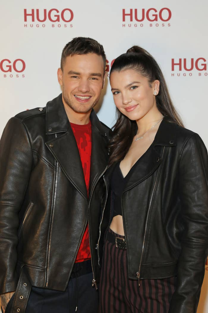 Liam Payne and Maya Henry attend the Hugo X Liam Payne Bodywear Campaign party at Flannels on December 4, 2019 in London, England