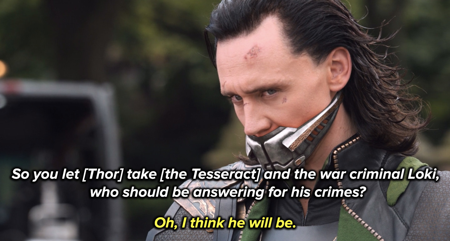 Fury assures the council Loki will answer for his crimes on Asgard