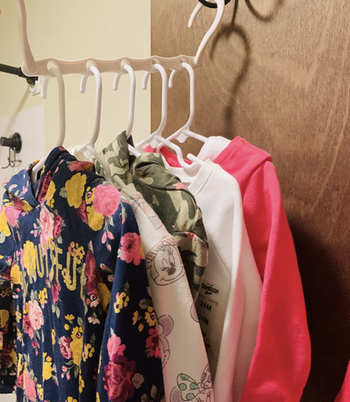 A reviewer's clothes on the hanger