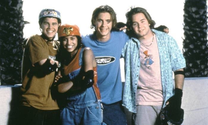 """Publicity photo of cast of """"Brink!"""""""