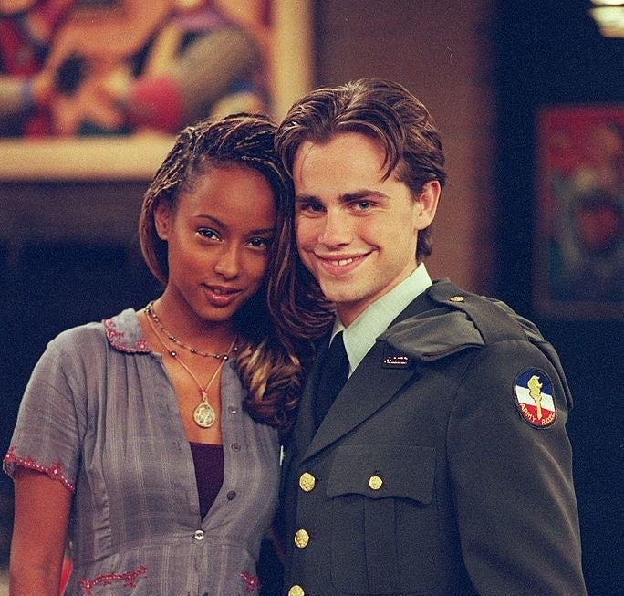 """Photo of Trina McGee and Rider Strong from """"Boy Meets World"""""""