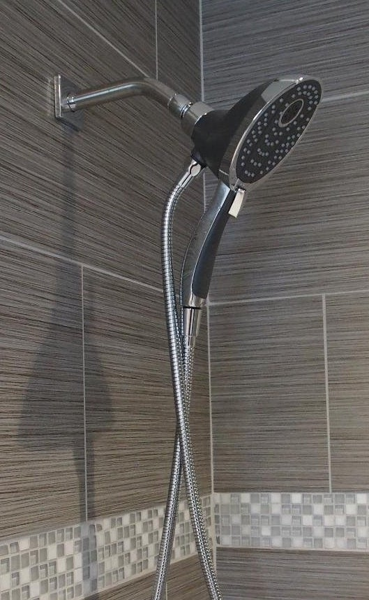 The shower head installed
