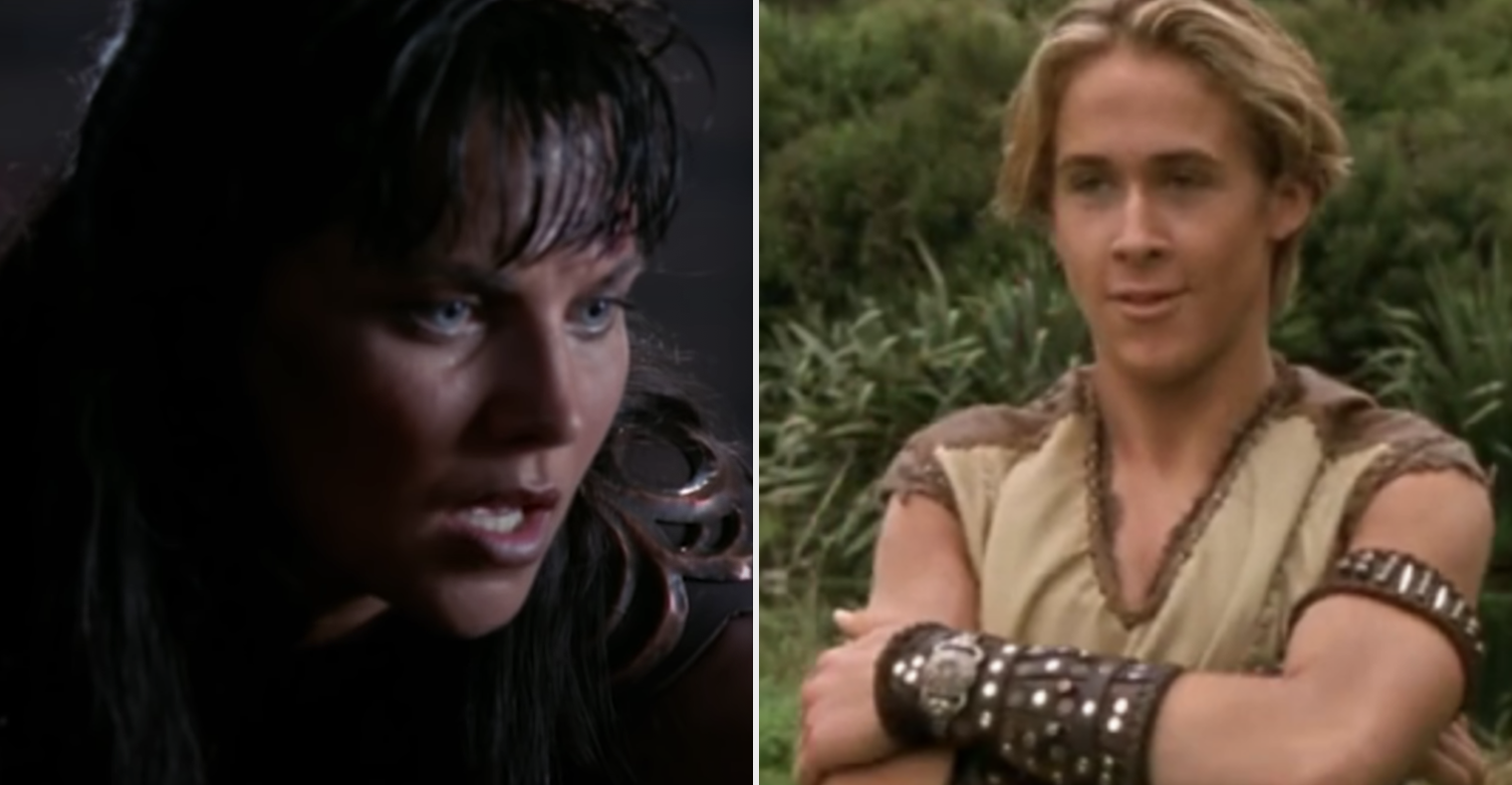 Lucy Lawless as Xena and Ryan Gosling as a young Hercules