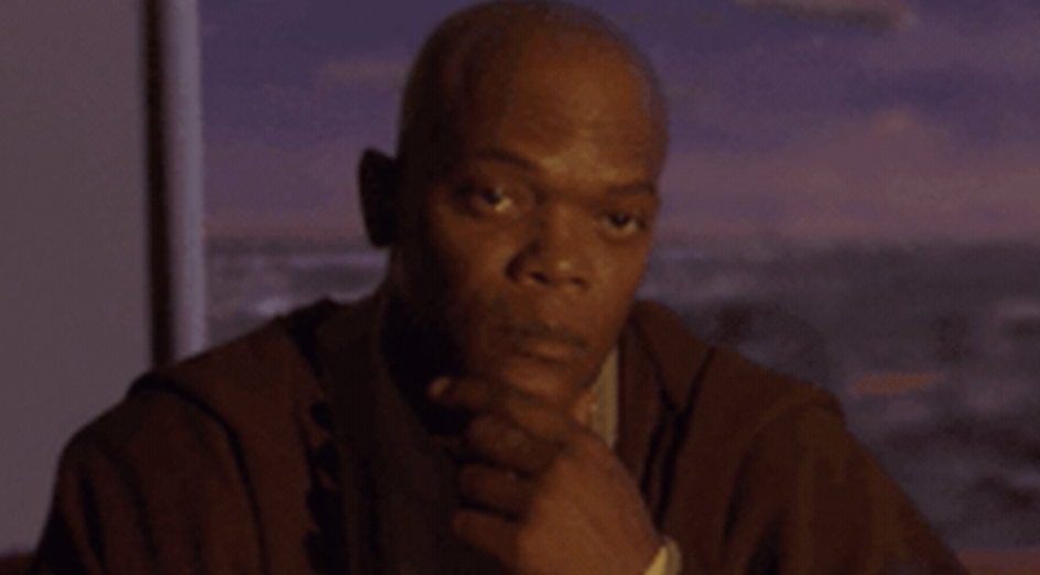 "Samuel L. Jackson in ""Attack of the Clones"""