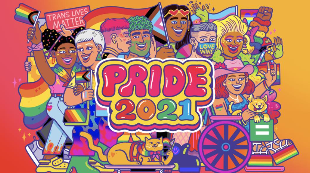"""BuzzFeed's colorful """"Pride 2021"""" illustration"""