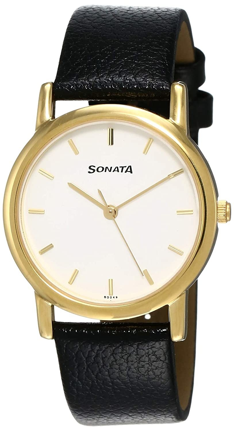 A black and golden watch