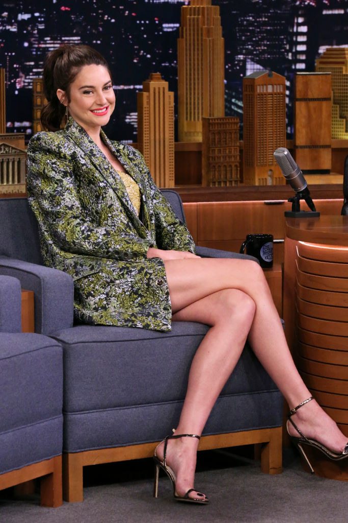 Shailene Woodley during an interview with Jimmy Fallon