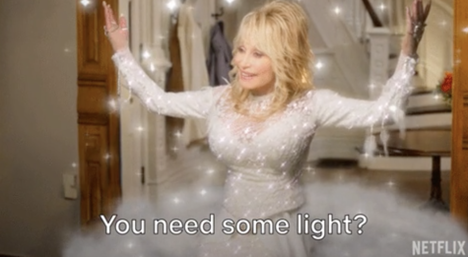 """Dolly Parton in """"Dolly Parton's Christmas on the Square"""""""