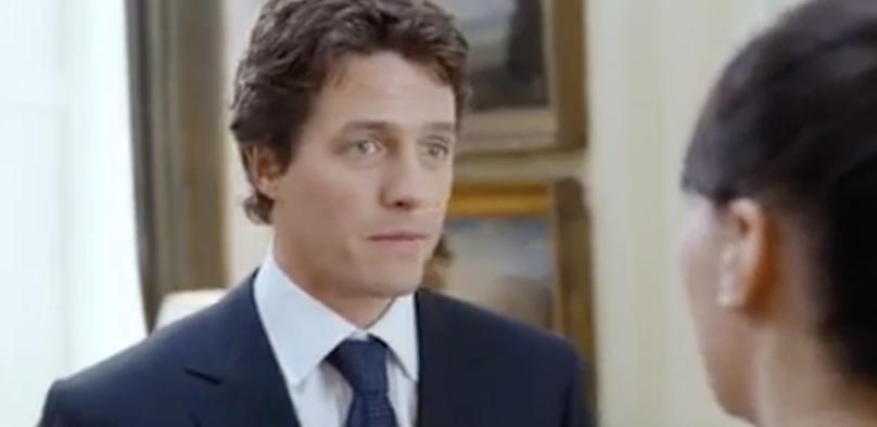 "Hugh Grant in ""Love Actually"""