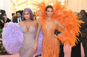 kendall and kylie jenner at the met gala