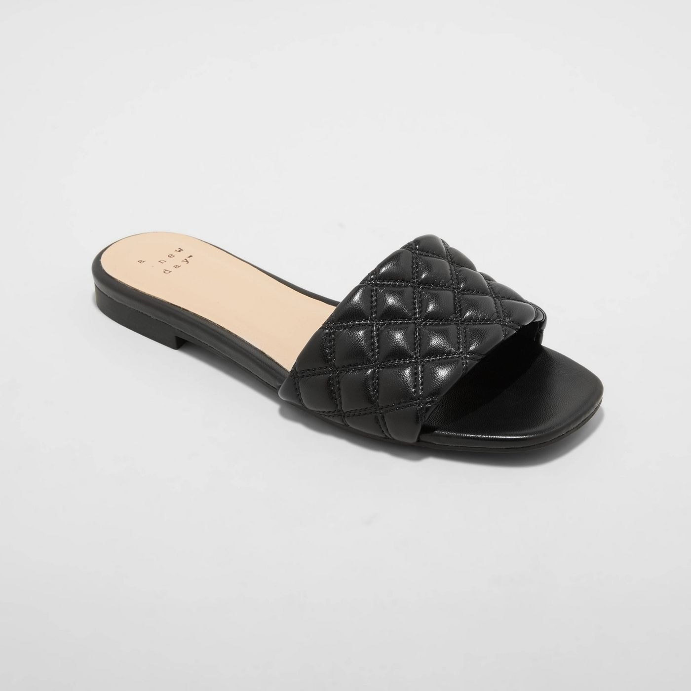 The quilted black slides