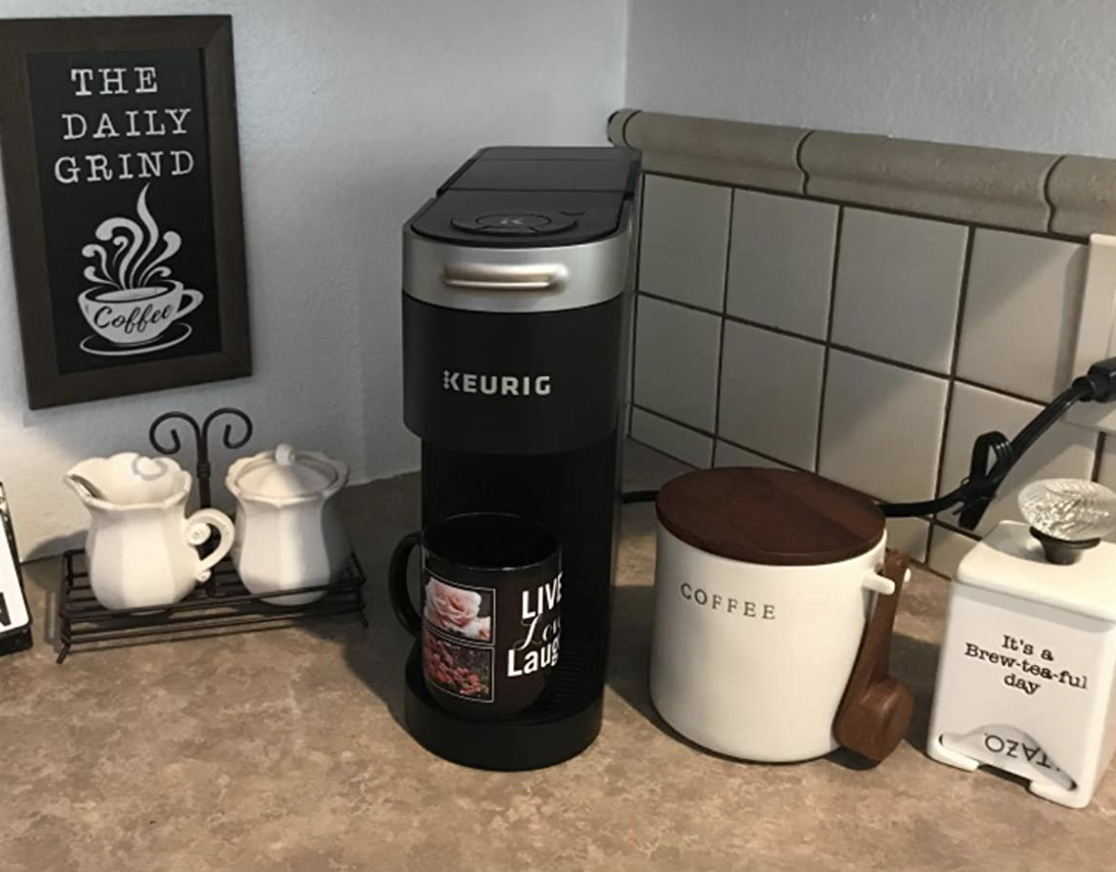 reviewer photo of the keurig on a counter