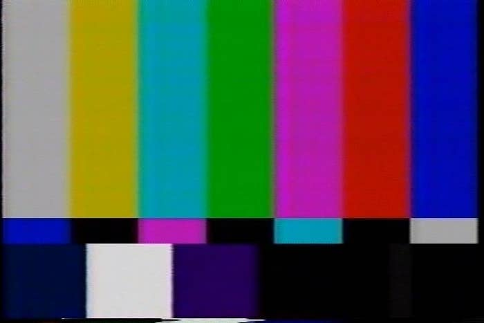 An old TV test pattern