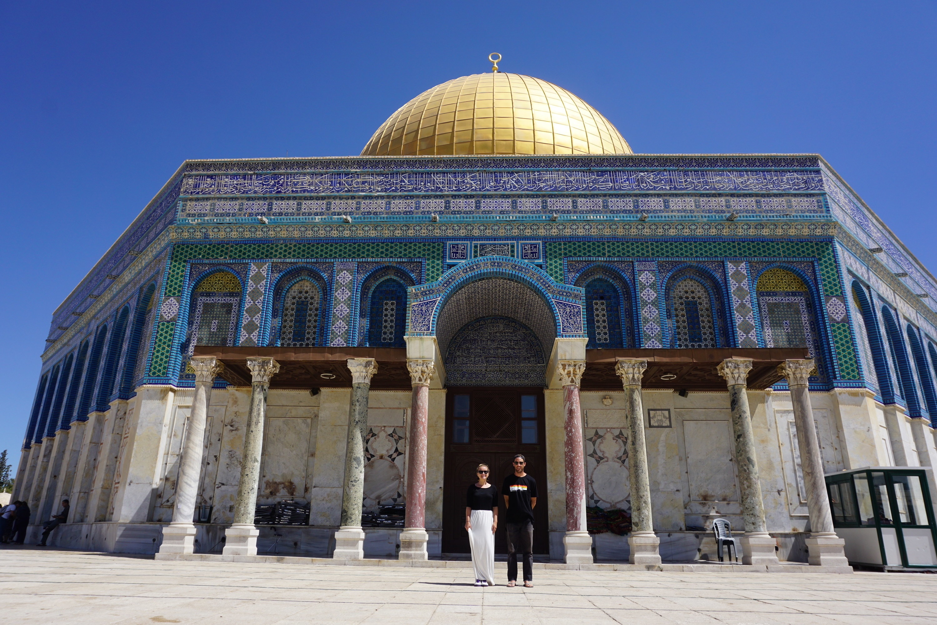 Couple in front of dome
