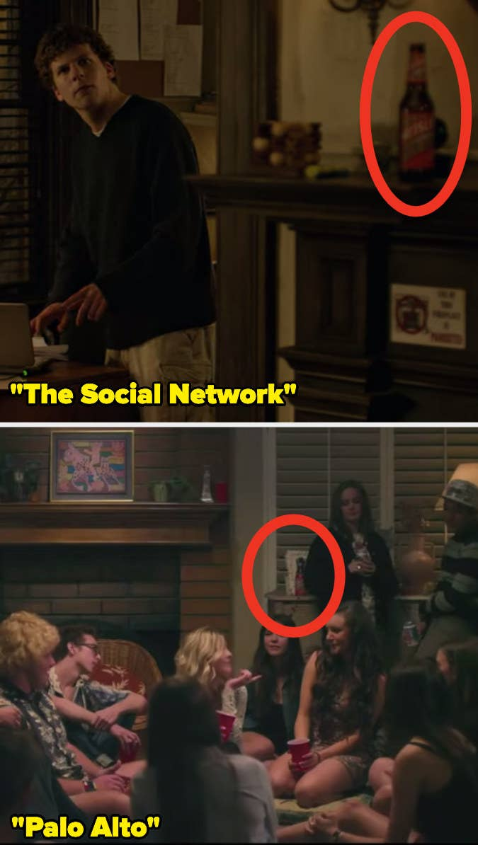 15 Props Used In More Than One Movie Films like The Social Network, Palo Alto have used 'Heilser Golden Agle,' fake beer to get actors fake drunk on screen.15 Props Used In More Than One Movie