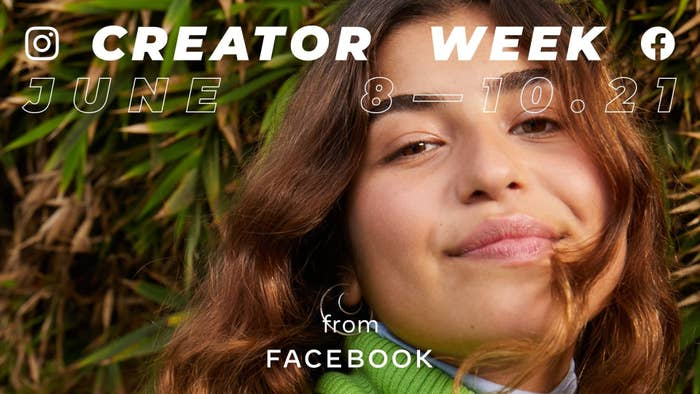 A poster advertises Instagram's Creator Week from June 8 to 10