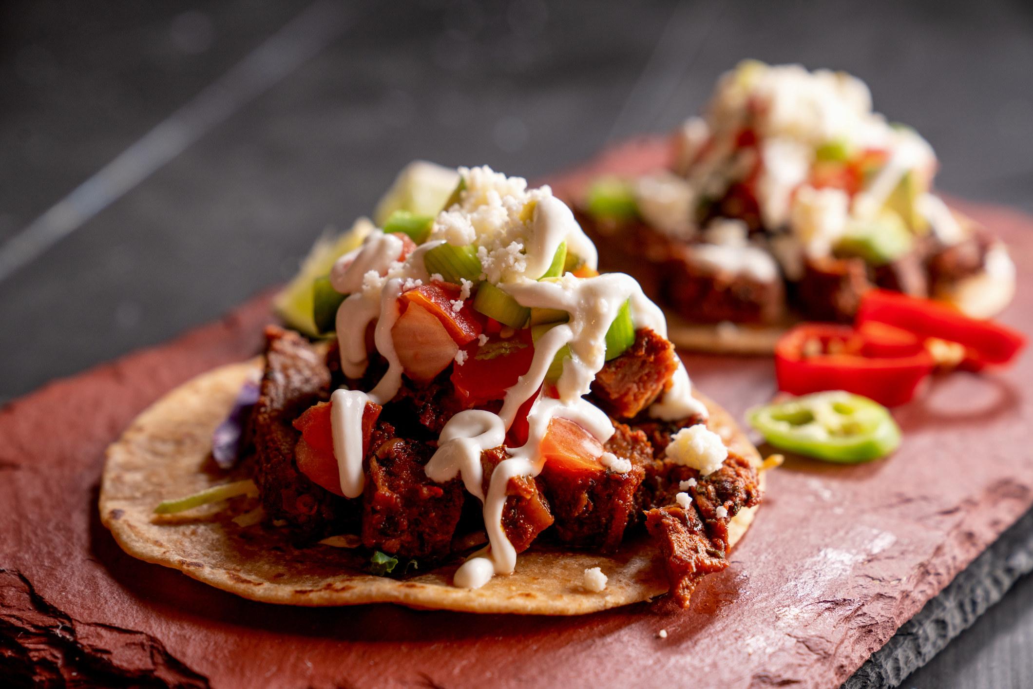 Two carne asada tacos