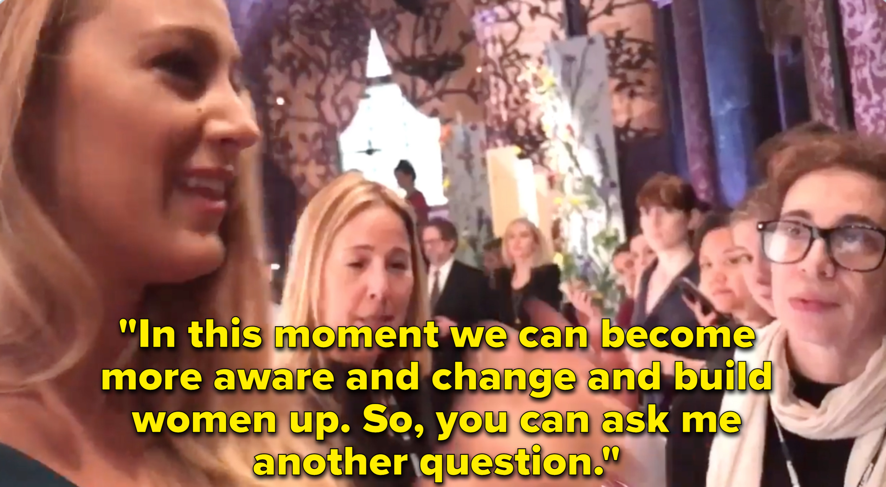 Blake Lively angrily speaks with reporters after being ask an inappropriate question.