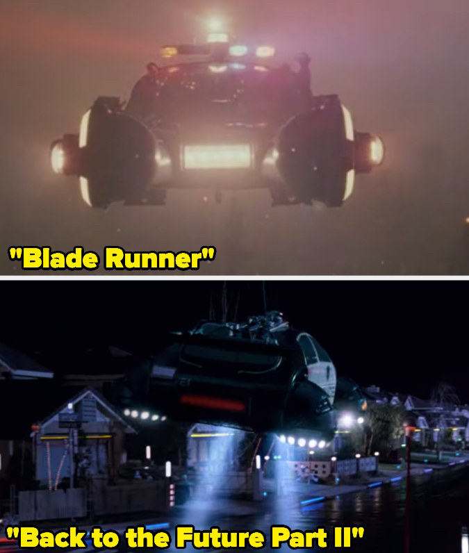 """A futuristic, flying police car in """"Blade Runner"""" and """"Back to the Future Part II"""""""
