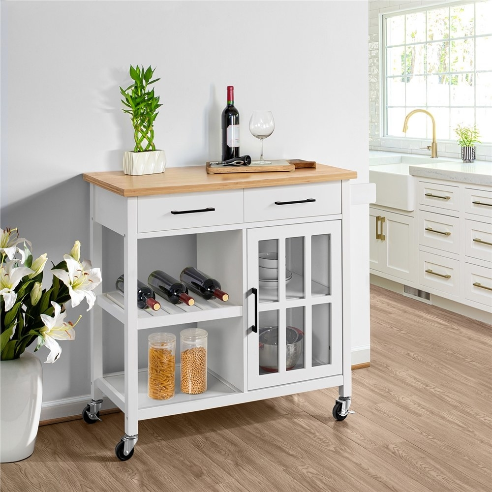 The rolling kitchen cart