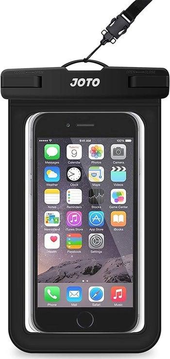 black joto waterproof sleeve for your phone