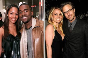 kanye and britney and their former flames