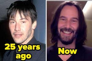 keanu reeves now vs 25 years ago