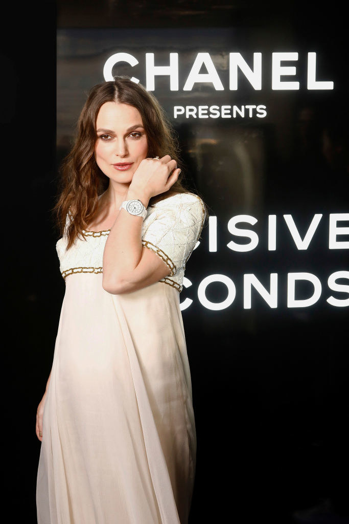 Keira Knightley attends the Chanel J12 Watch Launch