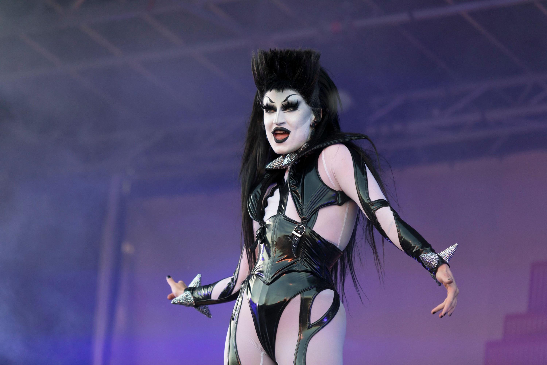 Gottmik performing at a drag show
