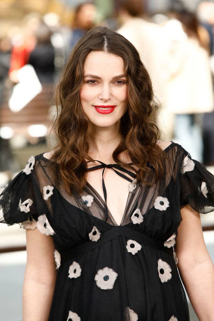 Keira Knightley attends the Chanel Cruise 2020 Collection: Photocall In Le Grand Palais