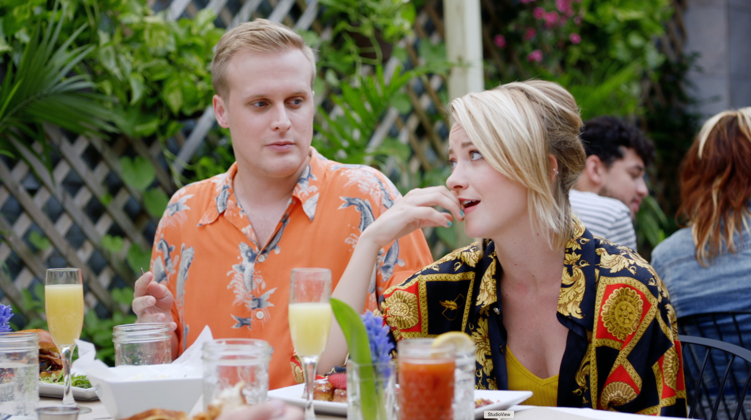 John Early and Meredith Hagner at brunch