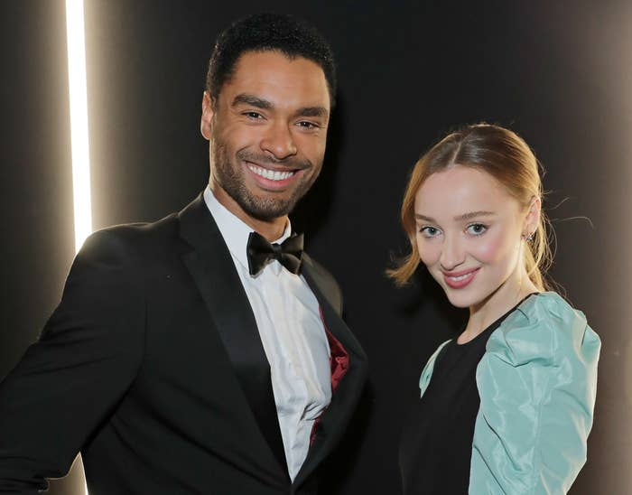 Phoebe and Rege-Jean pose together at an event