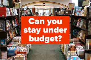 The interior of a Barnes & Noble, with the question