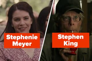 Stephenie Meyer and Stephen King in cameos of their movies