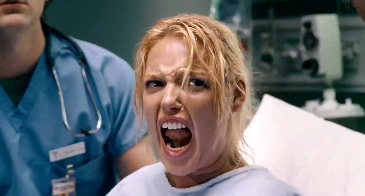 """Katherine Heigl screams while giving birth in """"Knocked Up"""""""