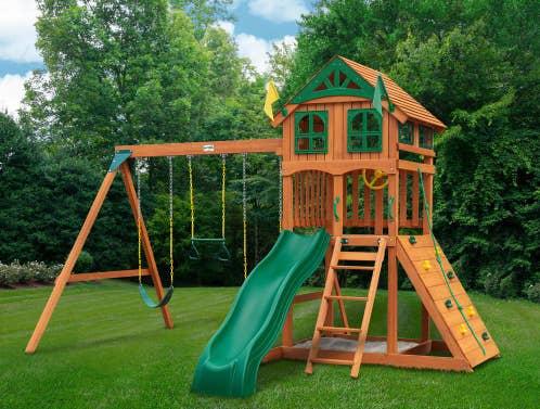 The assembled swing set