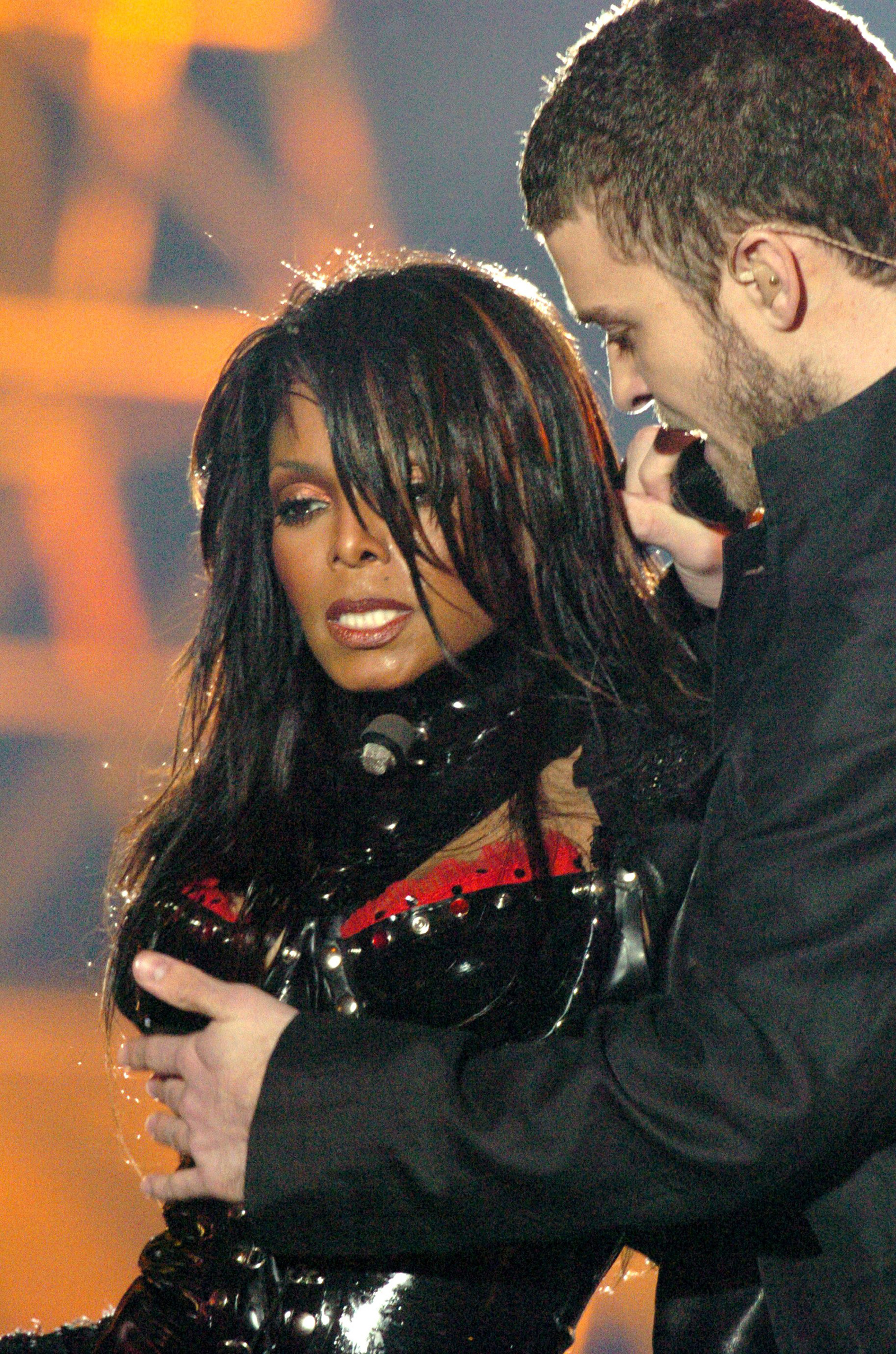Janet and Justin at the notorious Super Bowl halftime show