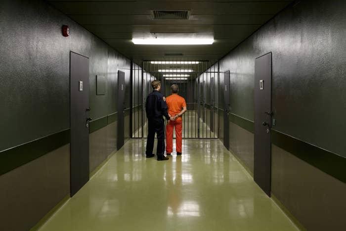 A prison interior