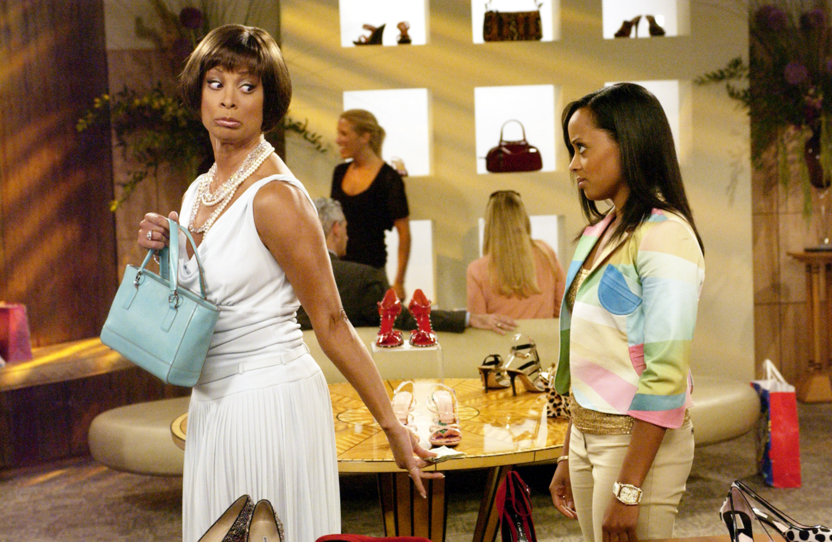 Actors Valarie Pettiford and Essence Atkins on season four of the series half and half