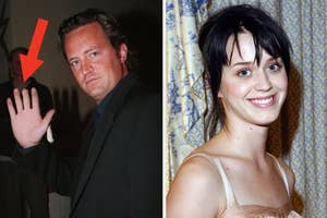 matthew perrys chopped off pointer finger and an old picture of katy perry