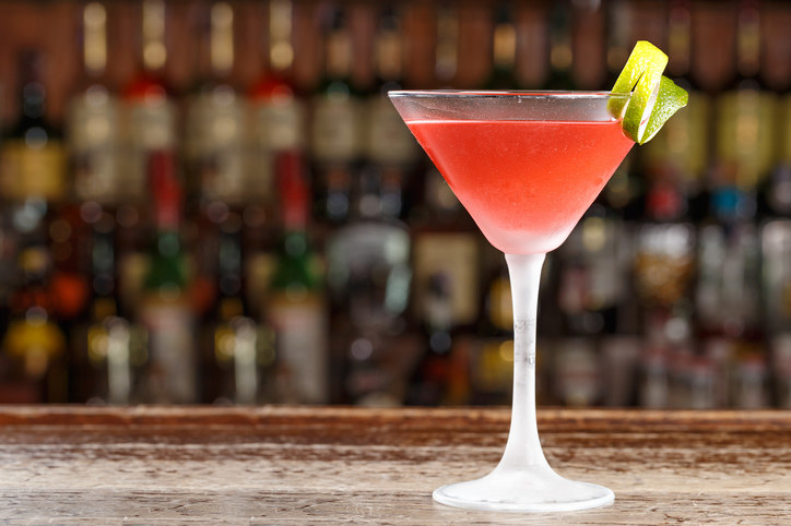 Cosmo drink on a bar